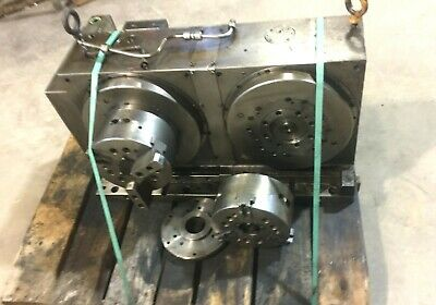 Lmc Hydraulic Power Chuck 8 3 Jaw Wdual Head Rotary Table Ha200nc-s Servo