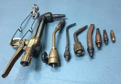 Vintage Victor Journey Man Cutting Welding Torch 3590 Attachment W Tips 1805