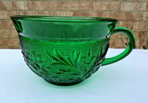 VTG HOCKING FOREST GREEN SANDWICH PATTERN GLASS CUP LAST ONE