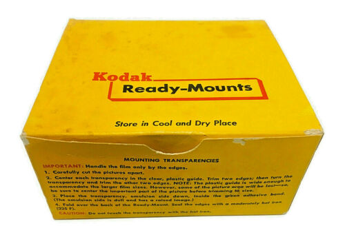 Kodak Ready Mounts Flat Unsealed 2x2 for 127 620 120 Roll Film Box of 40