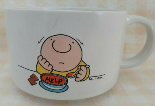 Vintage Designers Collection Ziggy HELP Soup Bowl Mug Coffee Cup Glassware