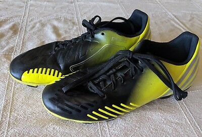 size 40 a3092 1bd6b Adidas Predito Predator Youth Boys Soccer Cleats Shoes Size 5.5 Yellow    Black