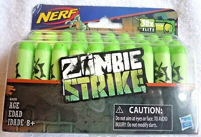 Nerf Darts Refill Kit Zombie Strike Elite 30 Pack Green Foam Darts