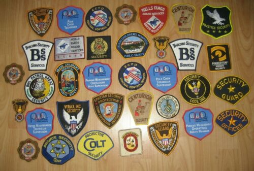 Security US Law Enforcement Private Special Police Related Patches  35 Patch Lot