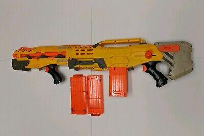 Yellow Nerf N-Strike Elite Longshot CS-6 with 3 Clips