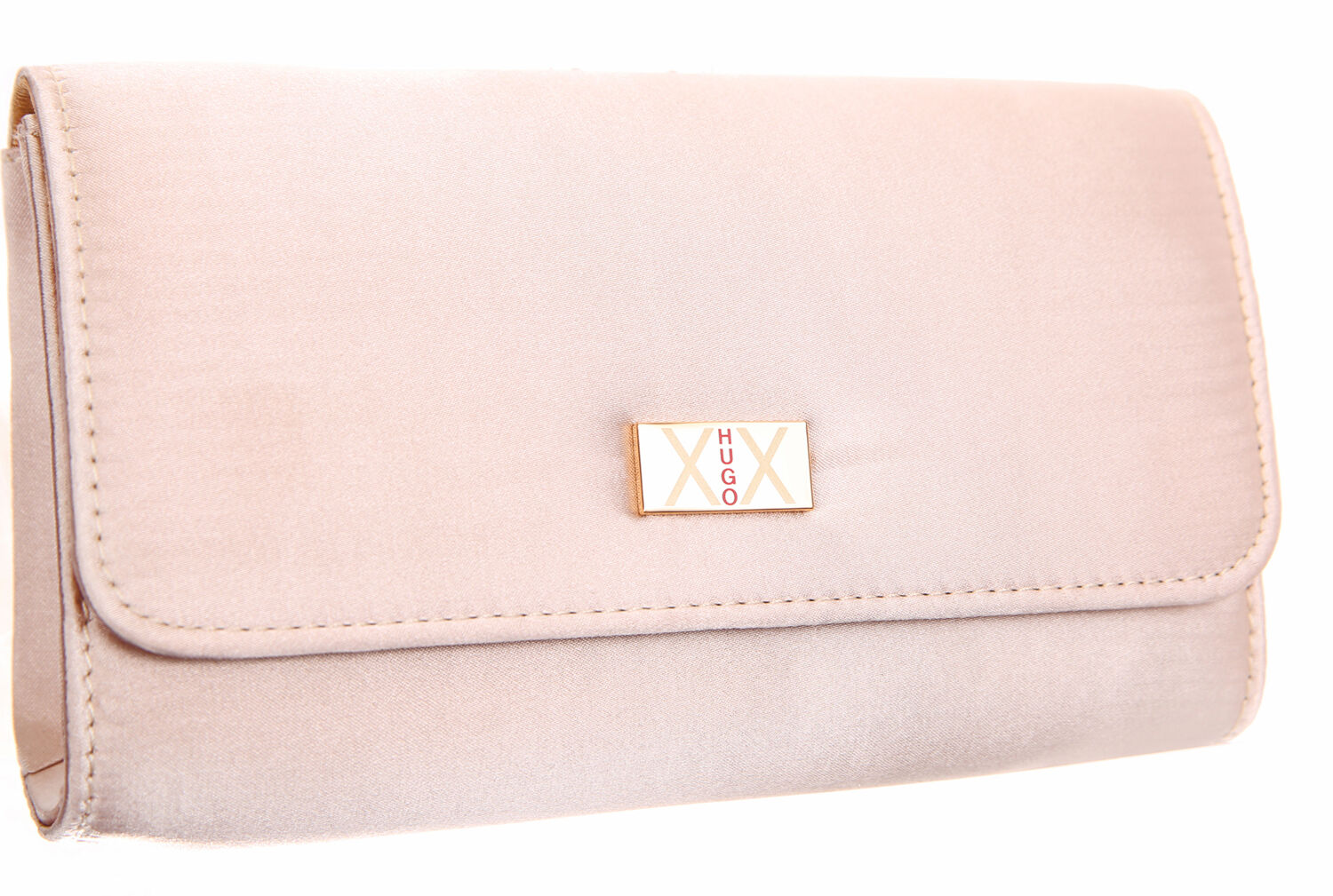 hugo boss xx ladies gold satin cosmetic bag small evening clutch bag ebay. Black Bedroom Furniture Sets. Home Design Ideas
