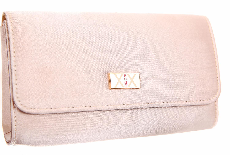hugo boss xx ladies gold satin cosmetic bag small evening clutch bag ebay. Black Bedroom Furniture Sets. Home Design Ideas