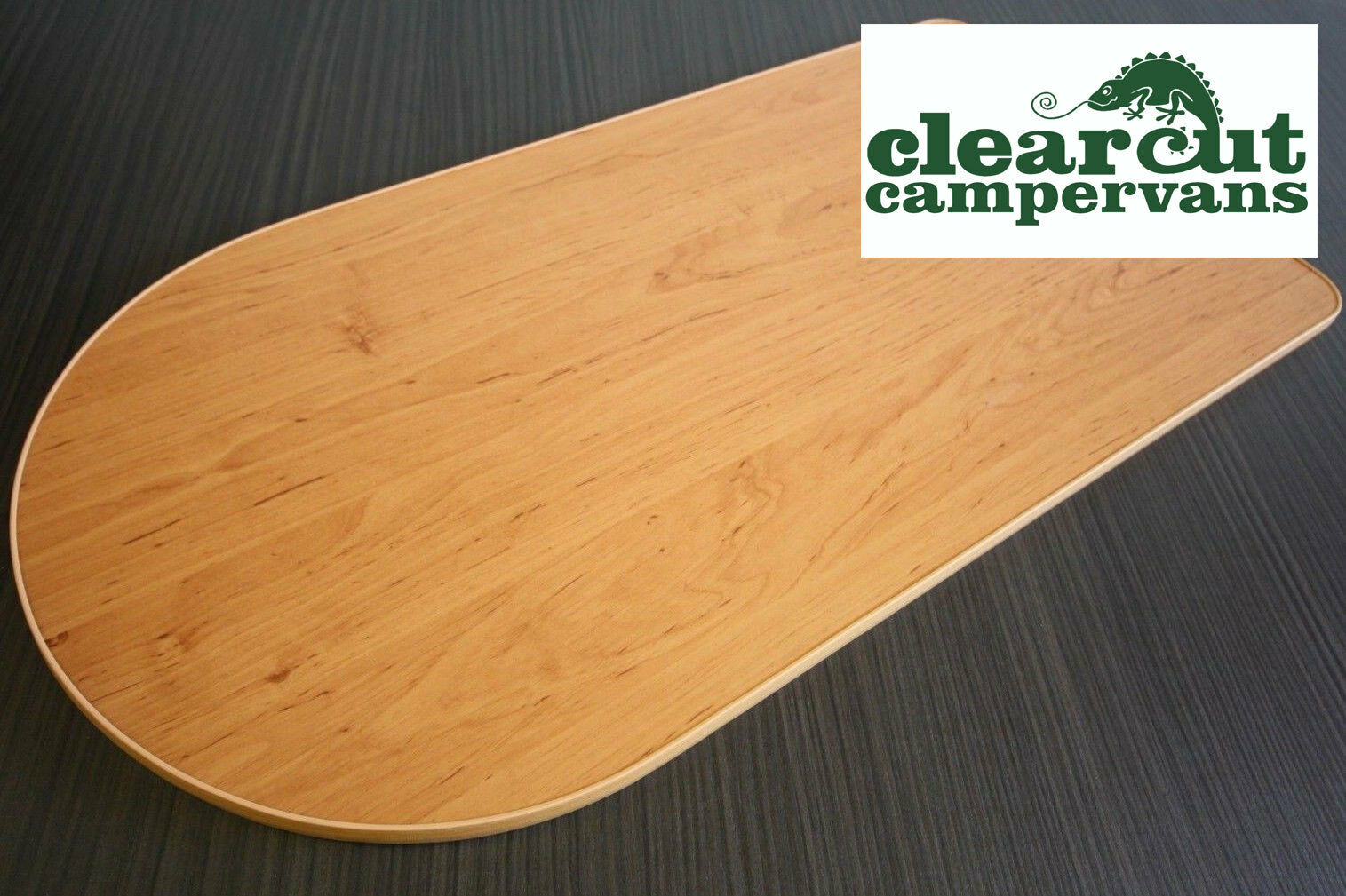 Light Weight Ply 900mm x 500mm Motorhome//Van Table Top Cherry curve