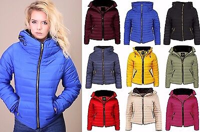 Zara Larsson Puffer Jacket Quilted Padded Bubble Fur Collar Thick Womens Coat