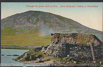 Ireland Postcard - Through The Green Hills of Erin, Mick McQuaid's Cabin C381