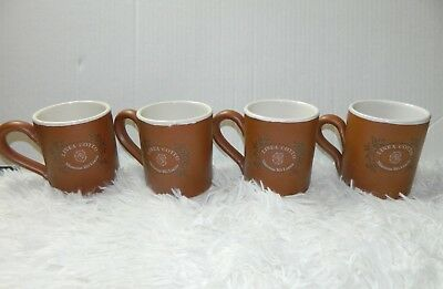Linea Cotto Mamma Ro Lucca Mugs Brown Terra Cotta Coffee Cups Italy Set of 4  Mamma Ro Coffee