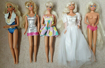 MATTELL VINTAGE BARBIE DOLLS GREAT CONDITION BUNDLE 5 DOLLS TOTALLY HAIR