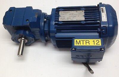 Sew Eurodrive Sa37dre80m4 Electric Motor Gear Reducer 3ph 1hp 1740rpm 230y460v