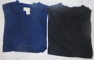 "Two Women's ""la Redoute"" Med Mock Turtle Short Sleeve Knit Tops-1 black, 1 navy, used for sale  Chandler"