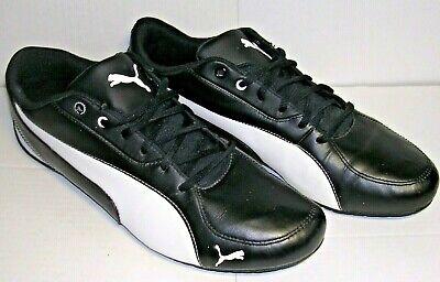 Puma Drift Cat 5 Men's Sport Trainers Shoes Black Leather UK 10 / EU 44.5 /US 11