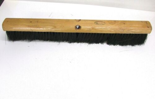 "NOS! MAGNOLIA 24"" FLOOR BRUSH BLACK TAMPICO FIBERS 3-1/4"" BRISTLES #1724"