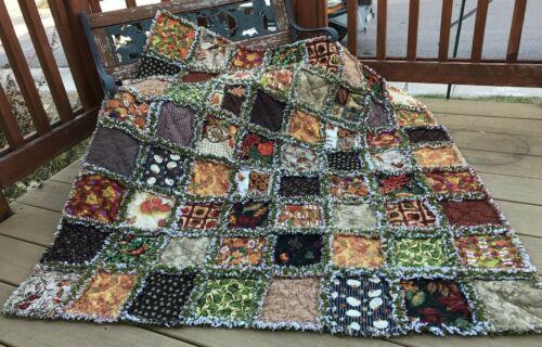RAG QUILT Autumn/Fall quilt  handmade in USA  #180