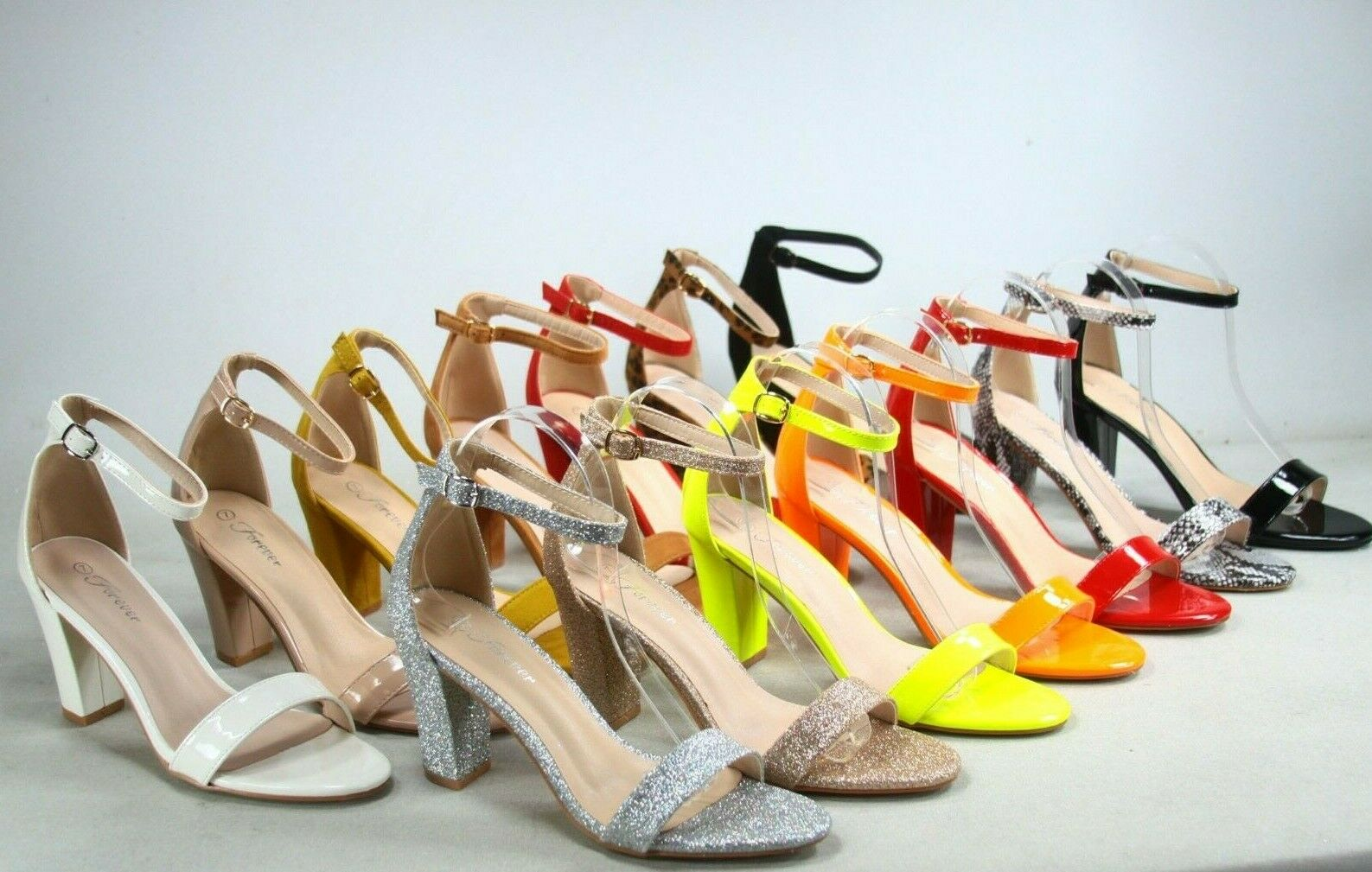 NEW Women's Color Ankle Strap Evening Dress  High Heel Sanda