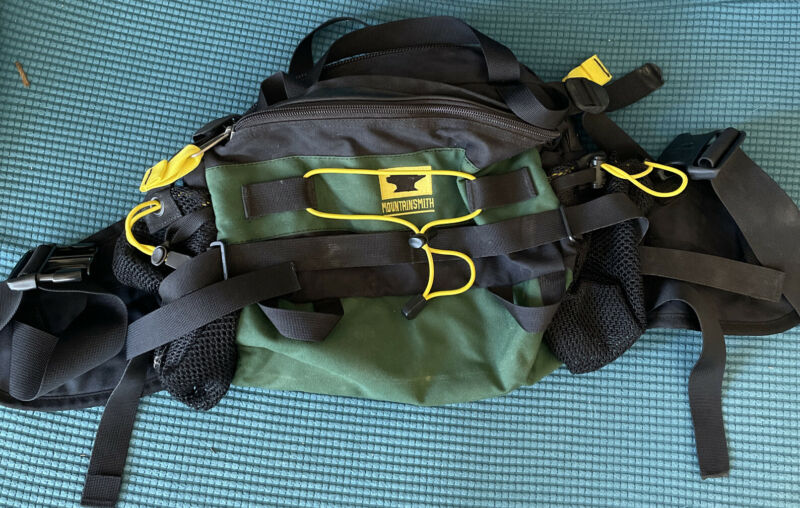 Mountainsmith Tour Hiking Day Lumbar Fanny Pack Bag Forest Green Black Yellow