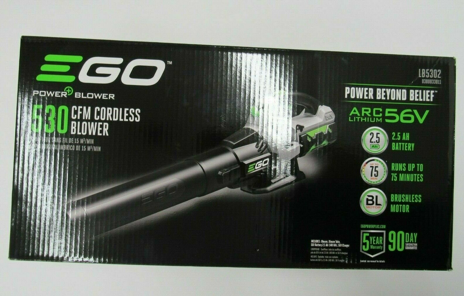 EGO 110 mph 530 CFM Variable-Speed Turbo Blower LB5302 with