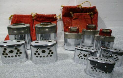 FIVE Vintage Jon-E Hand Warmers - (2) GI & (3) Regular