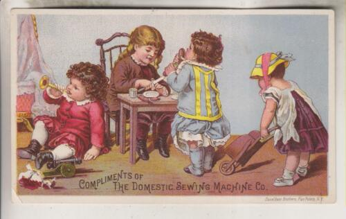 VINTAGE ADVERTISING CARD - COMPLIMENTS OF DOMESTIC SEWING MACHINE CO.