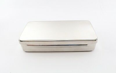 Dental Orthodontic Stainless Sterilization Instrument Tray Case W Lid Autoclave