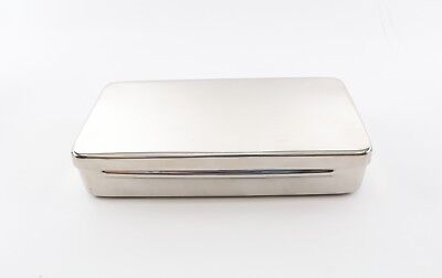 Medical Vet Tattoo Stainless Instrument Sterilization Tray Case W Lid Autoclave