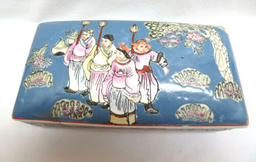 Chinese Porcelain Trinket Box, Marked