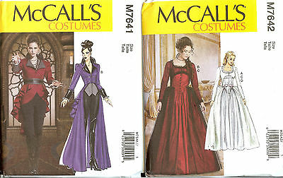 New McCalls Sewing Pattern Fantasy Renaissance Halloween Misses Costume You Pick