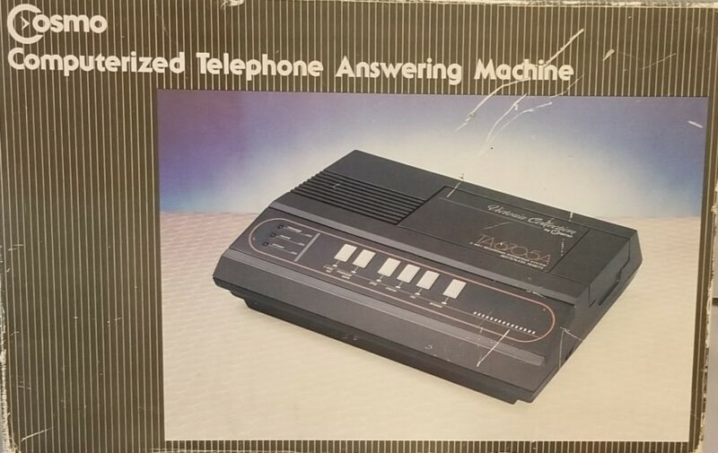 Vintage Cosmo Computerized Telephone Answering Machine NEW in Box TA-6705A