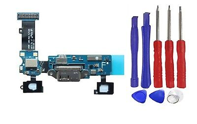 Charge Port Connector - Charging Charge Port Dock Connector Flex Cable Samsung Galaxy S5 G900F + Tools