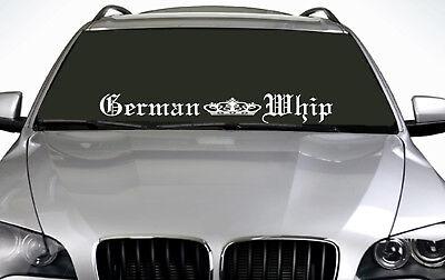 90cm German Whip (02) ANY COLOUR Windscreen Sticker EUR Driftcar Vinyl Decal JDM