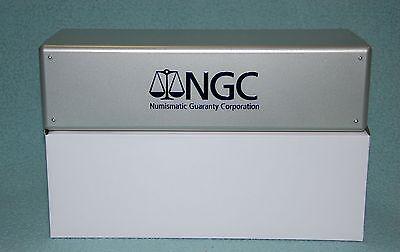 BRAND NEW ~ NGC SILVER STORAGE BOX PLASTIC GREY GRAY ~ HOLDS 20 NGC PCGS ICG