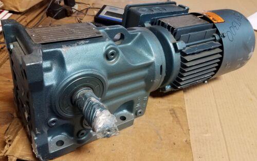 NEW SEW EURODRIVE GEAR/BRAKE MOTOR  /   49.79:1  RATIO   1/2 HP