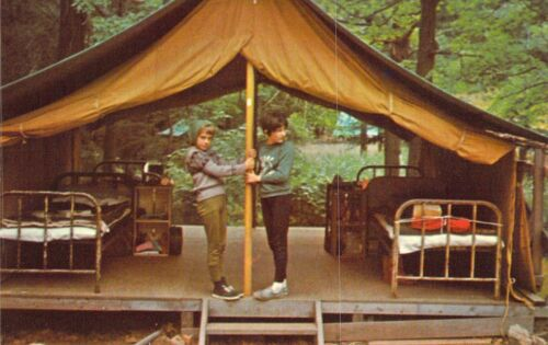 NY Central Valley CAMP CHICKAGAMI Girl Scout Camp  1966-71 postcard GS1