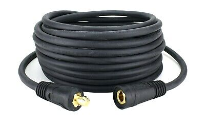 500 Amp Welding Lead Extension - Dinse 70-95 Malefemale Connector - 20 Cable