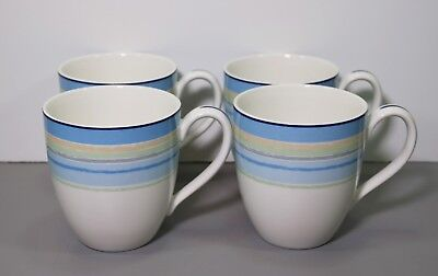 Four Ambience Java Blue Swirl Mugs 4