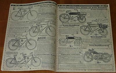 RARITÄT:alter Katalog ARCONA FAHRRÄDER ERNST MACHNOW BERLIN,72 Seiten  1937