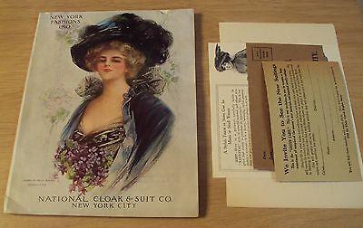 "Original 1910 NEW YORK FASHIONS Catalog/LOT~""NATIONAL CLOAK & SUIT"" Illustrated~"