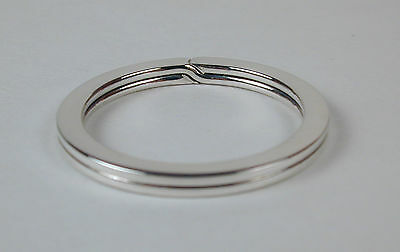 Sterling Silver Flat-Wire Split Ring Key Ring 28mm Made in USA Free US Shipping