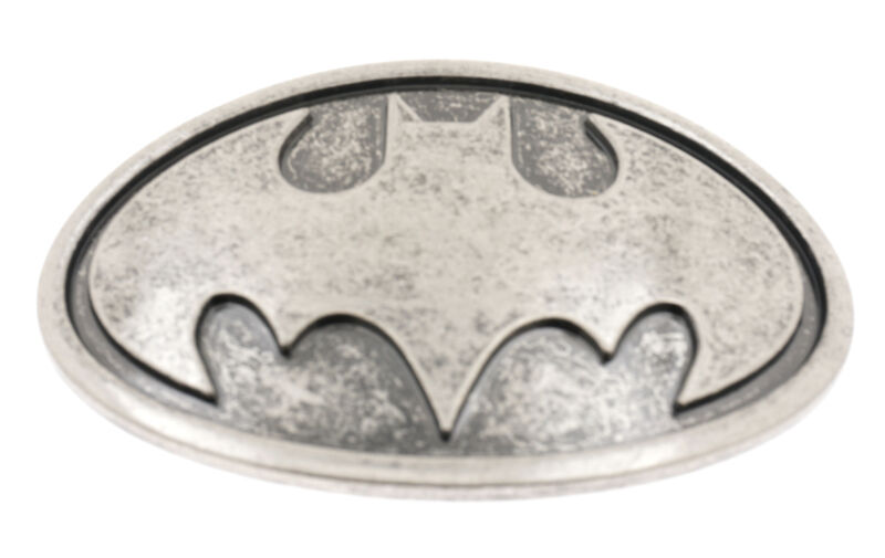 Distressed Batman Oval Metal Belt Buckle