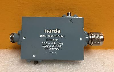 Narda 30266a 0.82 To 0.96 Ghz 30 Db Type N Sma Dual Directional Coupler