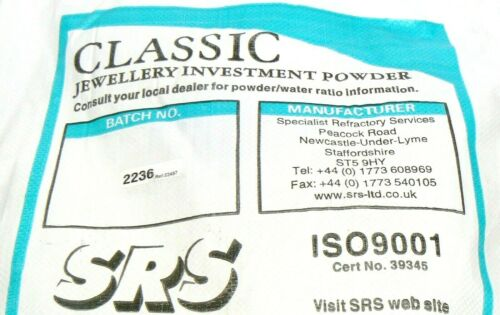 Jewelry Casting Powder Lost Wax Casting Of Jewelry 8 Lbs Classic SRS Investment