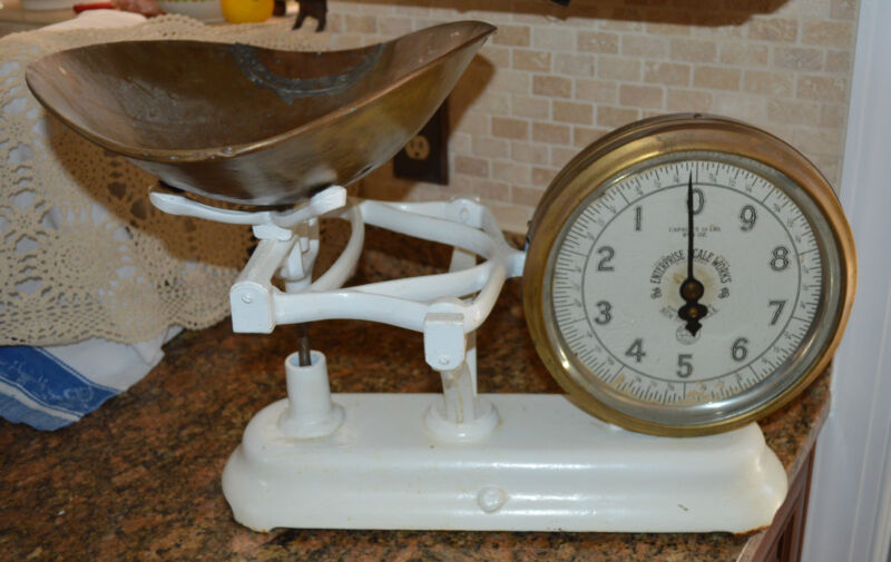 ANTIQUE Weigh Scale JB ENTERPRISE SCALE WORKS COMMERCIAL