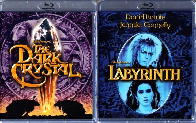The DARK CRYSTAL / LABYRINTH - JIM HENSON  - DAVID BOWIE  2 DISCS HI DEF BLU RAY