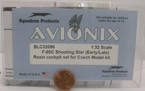 Avionix Resin Set 1:32 BLC32056 F-80C Shooting Star Cockpit Set for Czech Kit