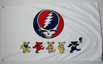 Grateful Dead Bear Flag (Nug Grateful Dead Dancing Bears Flag 3x5 Feet Indoor outdoor Rock Banner )