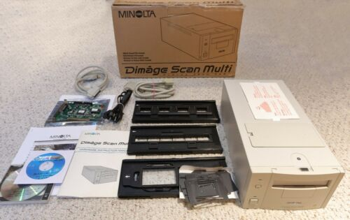 Konica Minolta Dimage Scan Multi F-3000 35mm Medium Format Film Slide Scanner