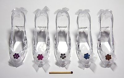 Cinderella Princess 'Glass' Slipper/Shoe +Ribbon+Crystal*Cake Topper*Party Decor
